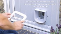 Installing the SureFlap Microchip Cat Flap in a door