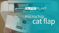 Locating the serial number on the SureFlap Microchip Cat Door