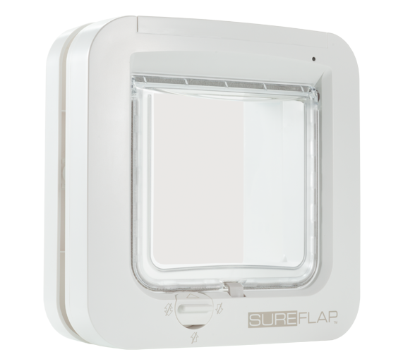 Microchip Cat Flap - White